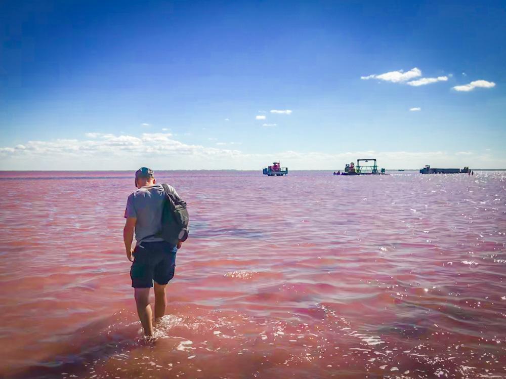 Het roze meer van Boersol