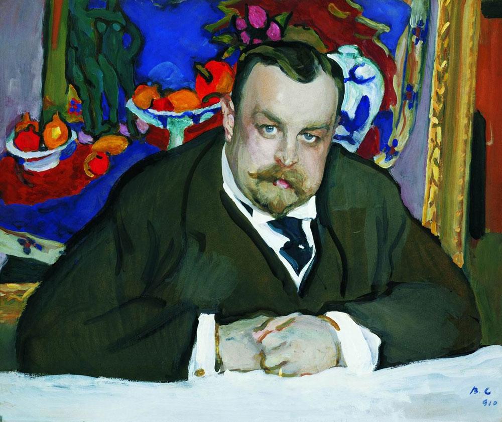 Portret van de Russische zakenman en kunstverzamelaar Ivan Morozov (1871 - 1921) door Henri Matisse, 1910