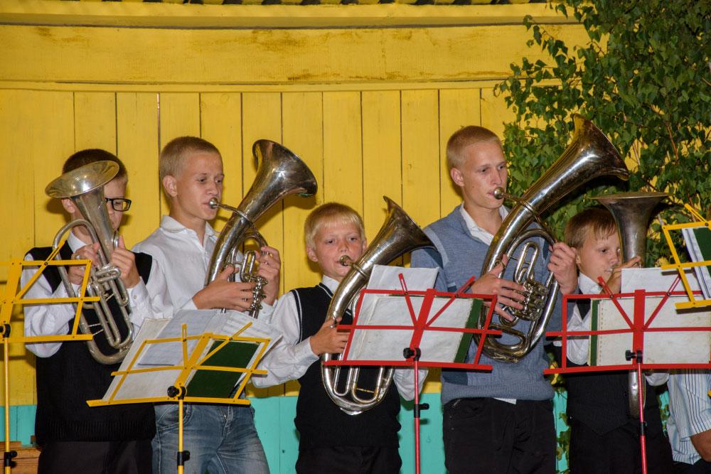 Het in 1901 opgerichte blaasorkest is tot op de dag van vandaag actief © Privéarchief Lina Andrejeva
