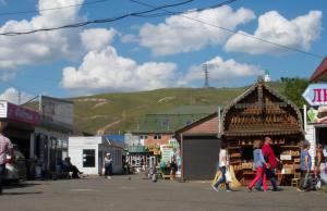 Omgeving centrale markt Krasnojarsk