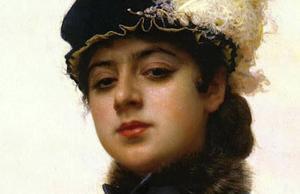 Ivan Kramskoj, 'Portret van een onbekende vrouw' (1883), fragment