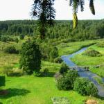 Ooit, ten tijde van de Sovjet-Unie, waren al deze wijden bezaaid, bleef het bos uit het dorp en en stond er verder op de rivier een dam